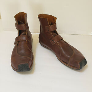 CYDWOQ Mens Brown Leather Boots Handmade USA 43.5 (9.5) Amazing Quality UNIQUE