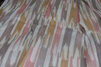 Printed dupion silk fabric orange/peach/brown £13.50/m Ivory base 1.21m wide