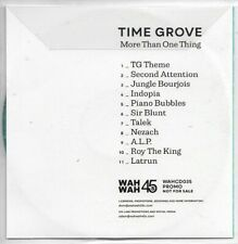 Time Grove More Than One Thing Promo CD Album