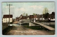 Frederick MD, Carroll Creek and Old Town Mill, Vintage Maryland Postcard