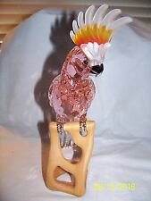SWAROVSKI CRYSTAL PARIADISE COCKATOO BIRD RED FIGURINE NEW IN BOX 718565 RETIRED