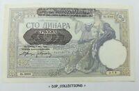 Banknote / Billet SERBIE SERBIA YOUGOSLAVIE YUGOSLAVIA 100 DINARA 1941 SPL