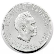 Zambia Kd Kaunda 1st Year Independence 5 Shillings 1965 Proof Km4