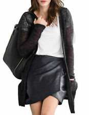 Wool Plus Size Long Thin Knit Jumpers & Cardigans for Women