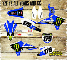 YAMAHA YZ YZF 85 125 250 450 MOTOCROSS FULL GRAPHICS KIT-DECALS-STICKERS-MX 5