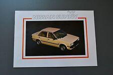 Sales Brochure Nissan Sunny 1982 UK, Saloon Coupe Estate
