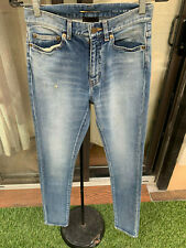 49af01ccfdf WOMENS SAINT LAURENT PARIS HIGH RISE SKINNY SLIM JEANS SIZE 25
