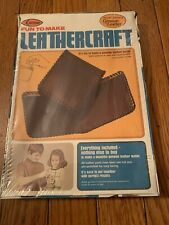 SEALED Vintage Arrow Leathercraft A1200 Leather Billfold Wallet Kit - 1976
