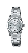 "NEW Casio LTP-V001D-7B Women's Stainless Steel Watch ""EASY-READER"" SILVER-tone"