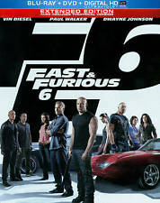 Fast and Furious 6 (Extended Bluray DVD Steelbook Digital HD)  New, Fact Sealed!