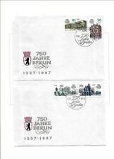 GDR Fold MEMORIAL SHEET 750 Years Berlin Lord Mayor Erhard Krack sonderstemp
