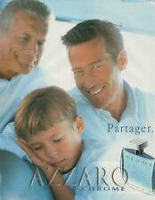 Publicité Advertising 1998  Parfum  CHROME AZZARO pour homme  Partager.