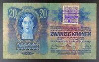 (1919) Yugoslavia - Second Provisional Issue 20 Kronen Banknote, P-7.