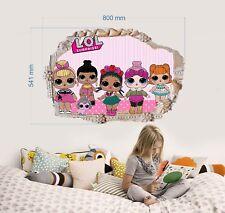 LOL DOLLS Wall Stickers 3D Decals mural boys girls bedroom Art decor 54cmX80cm