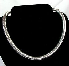 """OMEGA NECKLACE *STERLING SILVER* 16"""" & THICK"""