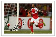 THEO WALCOTT 2015/16 ARSENAL SIGNED AUTOGRAPH PHOTO PRINT  SOCCER