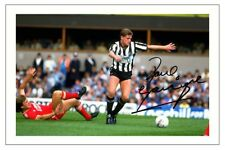 PAUL GASCOIGNE NEWCASTLE UNITED AUTOGRAPH SIGNED PHOTO PRINT SOCCER