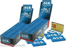 2 x 25 OCB blau GUMMIZUG Smoking Papers Zigarettenpapier Blättchen = ORIGNAL 804