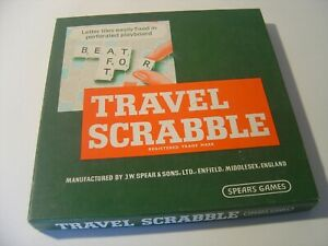 Travel Scrabble, J W Spear & Sons. Boxed & complete.