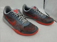 Nike Kobe Mentality II 2 Basketball Shoes 818952 004 Grey Crimson Mens Sz 10 Reg