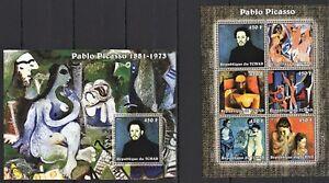 TCHAD 2002 - PABLO PICASSO LA VIE LA MERE ET SON FILS LA DANSE DEMOLSELLES MNH**