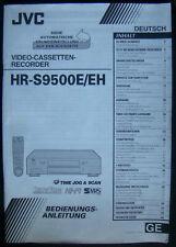 Bedienungsanleitung für Videorecorder JVC HR-S9500E/EH.