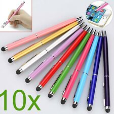 10xblack Touch Screen Ball Point Pen 2in1 Easy Carrying for Cell Phone Tablet PC