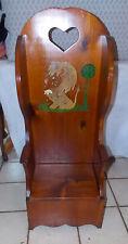 Handmade Handpainted Pine Child's Chair with Lift Seat