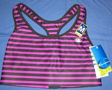 CHAMPION~M~B9504P~Raspberry Stripe Absolute Racerback Smooth-Tec Band Sports Bra