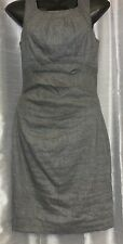 LE CHATEAU Women's Dress Size S * Gray Wool Zip Cinched Waist Pencil