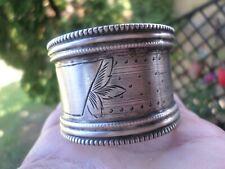 Rond de serviette-Argent Massif-Poinçon Minerve+orfèvre-silver