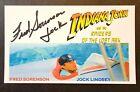 "INDIANA JONES RAIDERS OF LAST ARK- FRED SORENSON ""JOCK"" AUTOGRAPH 3X5 INDEX CARD"