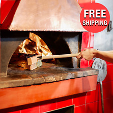 40 Long Overall Wooden Pizza Oven Cleaning Brush Metal Blade With Brass Scraper