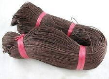 86 Metres Brown Cotton Waxed Cord Jewellery Craft Findings - 1mm - LB1415