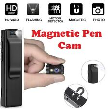 Magnetic Spy Cam - HD 1080P Pen Camera with Flashlight and Motion Detection