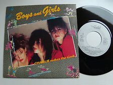 "CHARLIE MAKES THE COOK : Boys and girls 7"" 45T 1987 French TOUCH OF GOLD 888761"