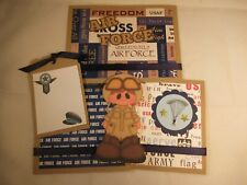 AIR FORCE  3D PAPER PIECING  SCRAPBOOK PAGE MAT SET