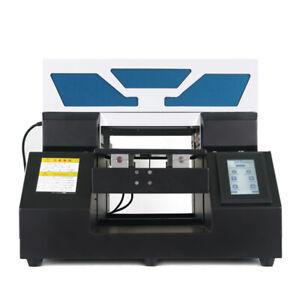 SINEWYATO UV Printer A4 Flatbed Cylindrical Plastic Acrylic Glass Wood Printing