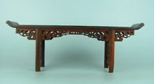 """Chinese Red suanzhi wood rosewood carved mini table display stand shelf 11.2"""""""