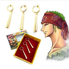 One Piece Roronoa Zoro Cosplay Ear Clip Earrings Metal Pendant Cool
