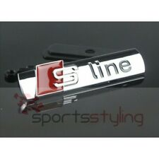 AUDI S-LINE Emblem Chrome Metal Badge For Front Grill A3 A4 S4 RS4 S3
