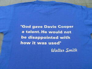 Glasgow Rangers Davie Cooper Tribute T-Shirts Inc 4xl & 5xl Christmas Gift