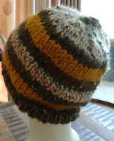 Hand Knitted Beanie Warm Men Striped Hat Australia Made