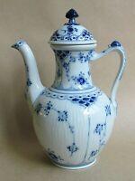 ROYAL COPENHAGEN BLUE FLUTED HALF LACE COFFEE POT (Ref5371)