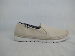 Skechers Bobs Flexpadrille Natural Canvas Slip On Sneakers Womens Sz 7 MSRP $71