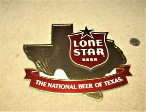 """1984 LONE STAR BEER  """"TEXAS""""  die cut sign  SAN ANTONIO, TEXAS"""