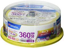 Mitsubishi Verbatim Blu-ray BD-RE DL 50GB 2x Rewritable Disc 20-Disc Spindle NEW