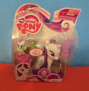 My Little Pony  g4  Rarity  comb animal friend and saddle  brushable  MIB mint
