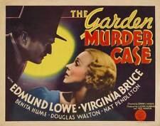 The Garden Murder Case - 1936 Edmund Lowe Virginia Bruce Mystery Drama Film DVD