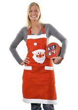 """Schürze """" Santa """"Küche Backschürze Weihnachtskostüm Kochschürze Küchenschürze"""